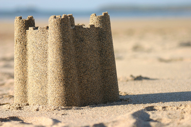 Smart like you're building a sand castle