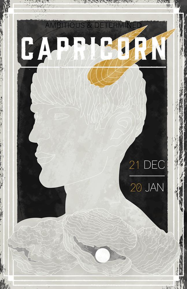 poster design inspiration capircorn