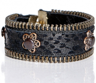 Beautiful black leather cuff