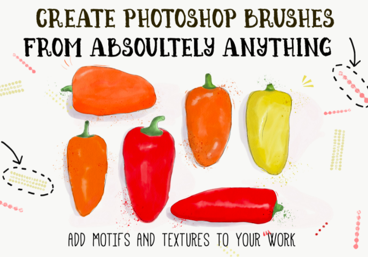 Create Photoshop Brushes from Absolutely Anything by Emma Bryan