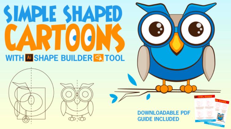 Simple Shaped Cartoons with AI Shape Builder Tool by Deanna Sheehan