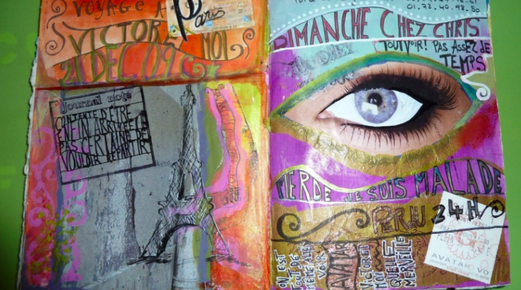 Art Journaling: Simple Techniques to Express Your Creative Self by Fanny Achache