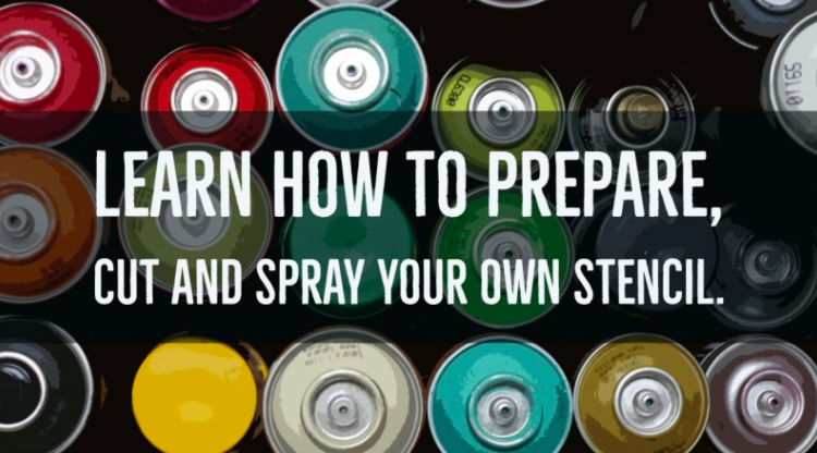 Learn How to Prepare Cut and Spray Your Own Stencil by Lina Grenaker