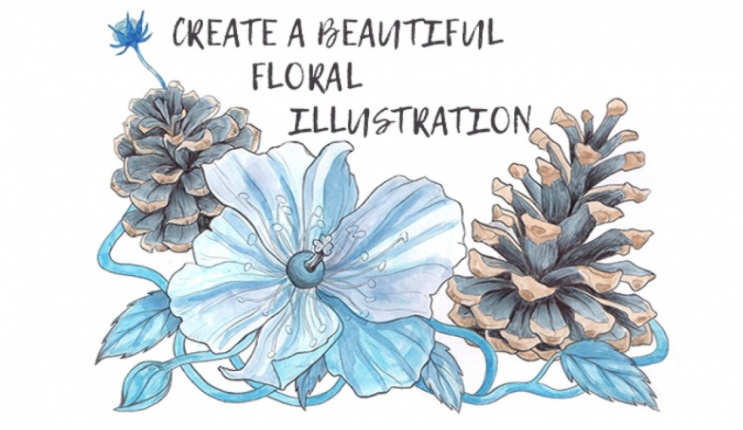 Margarita  is working on a class about making floral illustrations.