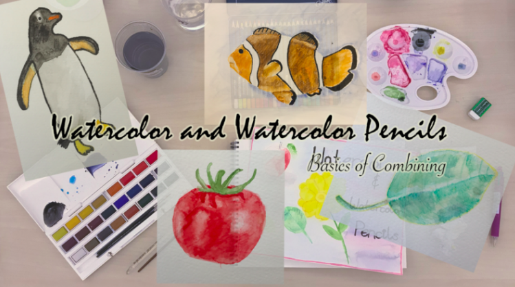 Maha  will guide you through the process of combining watercolor and watercolor pencils