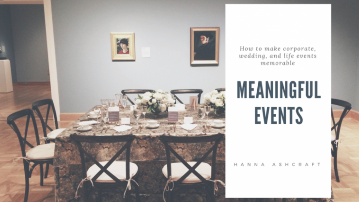 Hanna will show students how to plan a meaningful and memorable event.