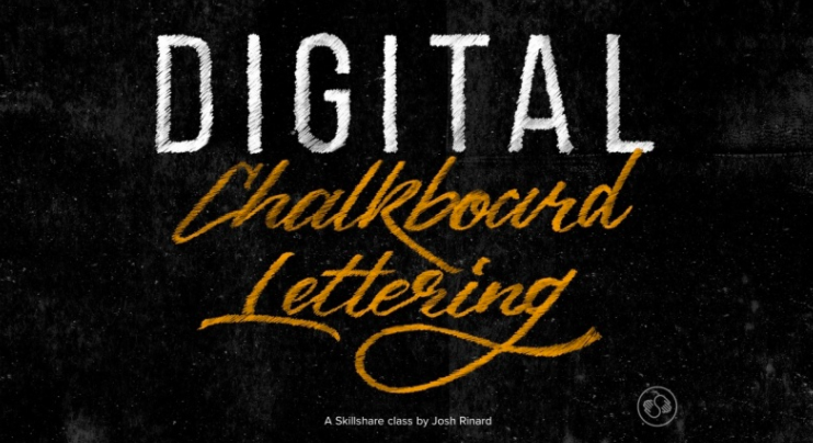 Josh will show his students how to turn their hand lettering or digital typography piece into a handmade chalkboard lettering effect that will be ready print or web
