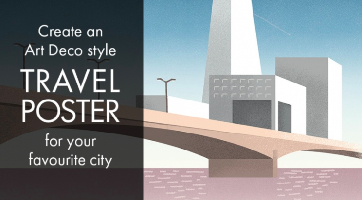 Learn how to create an art deco style travel poster with  Ellen .