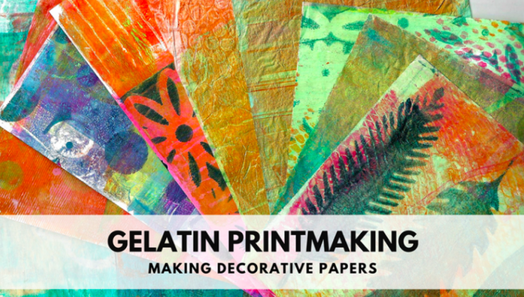 Suzette  will share her process for making decorative papers.