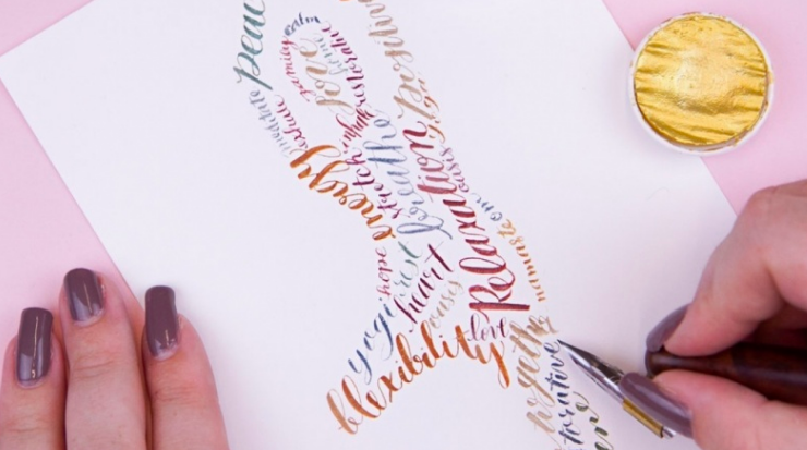 Create a modern calligraphy silhouette project with  Danielle.