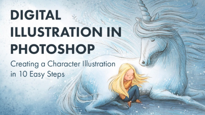 Create unique character illustrations in Photoshop with  Ramona .