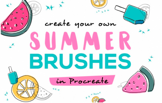 Make custom summery brushes in Procreate with  Lilli .