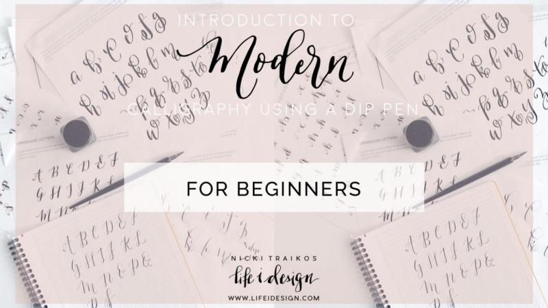 Join Nicki an introduction to modern calligraphy using a dip pen and ink
