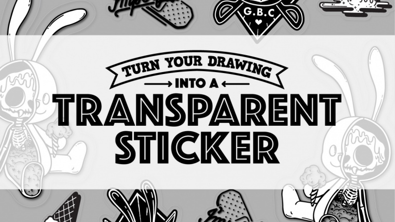 Turn your drawing into a transparent sticker with Alice using the iPad Pro and Adobe Illustrator