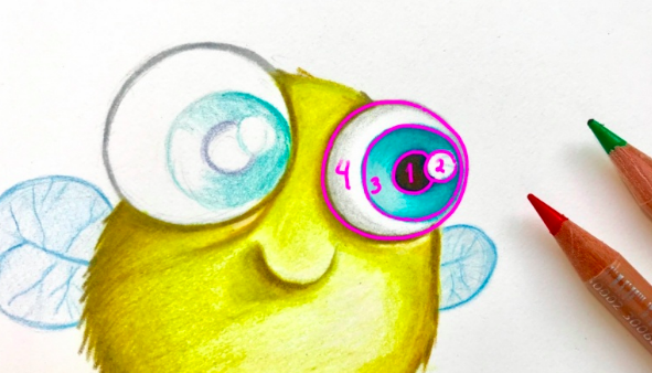 Learn to draw whimsical eyes with  Miriam .