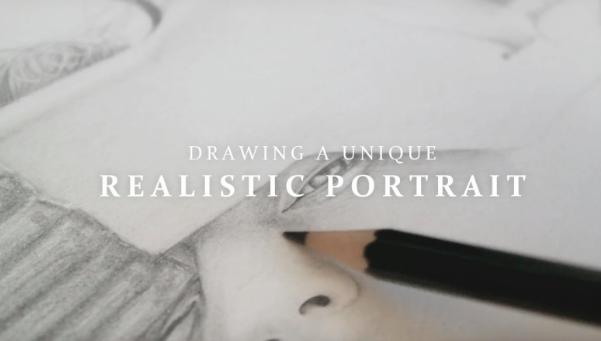 Draw realistic a realistic portrait with  Asya .