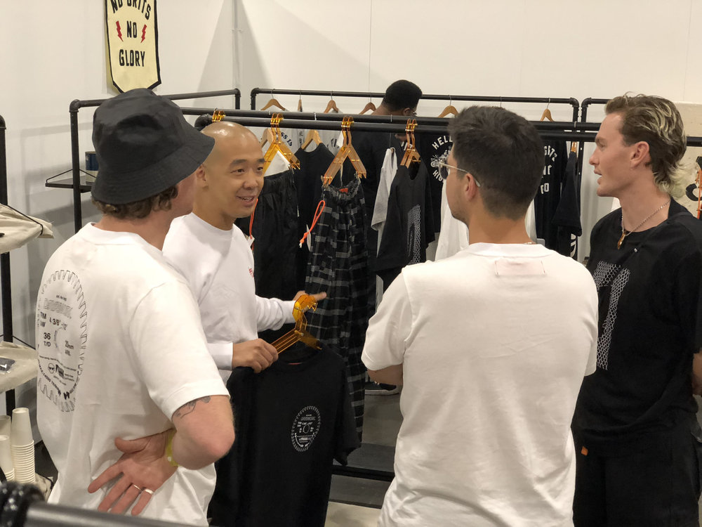 Jeff Staple gives feedback to the DAYSWORK team