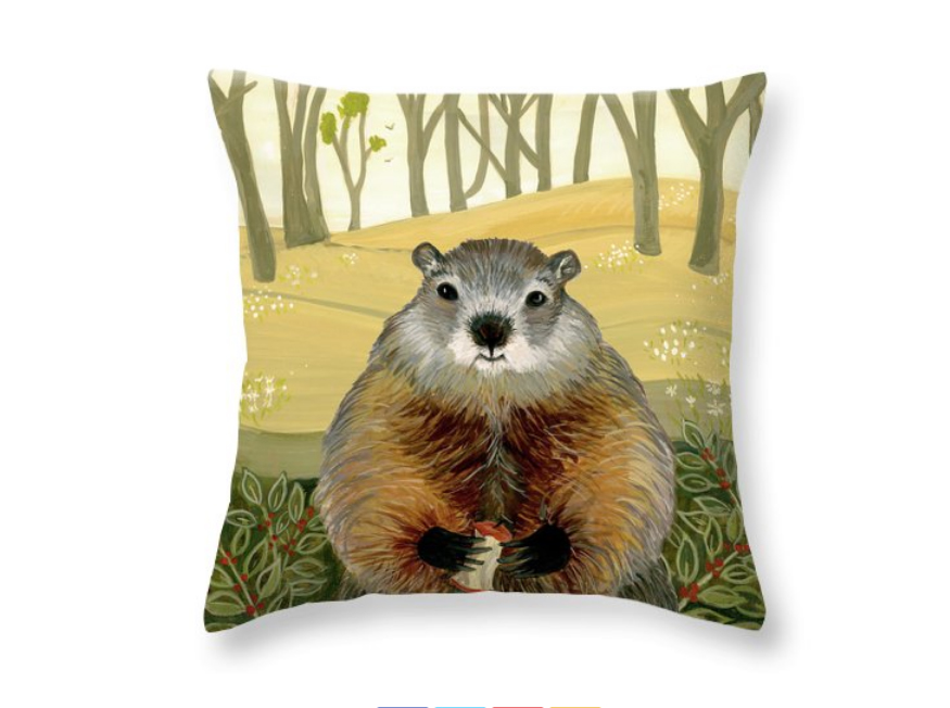 """Friendly Woodchuck"" by Jean Ruth (image courtesy of the artist)"