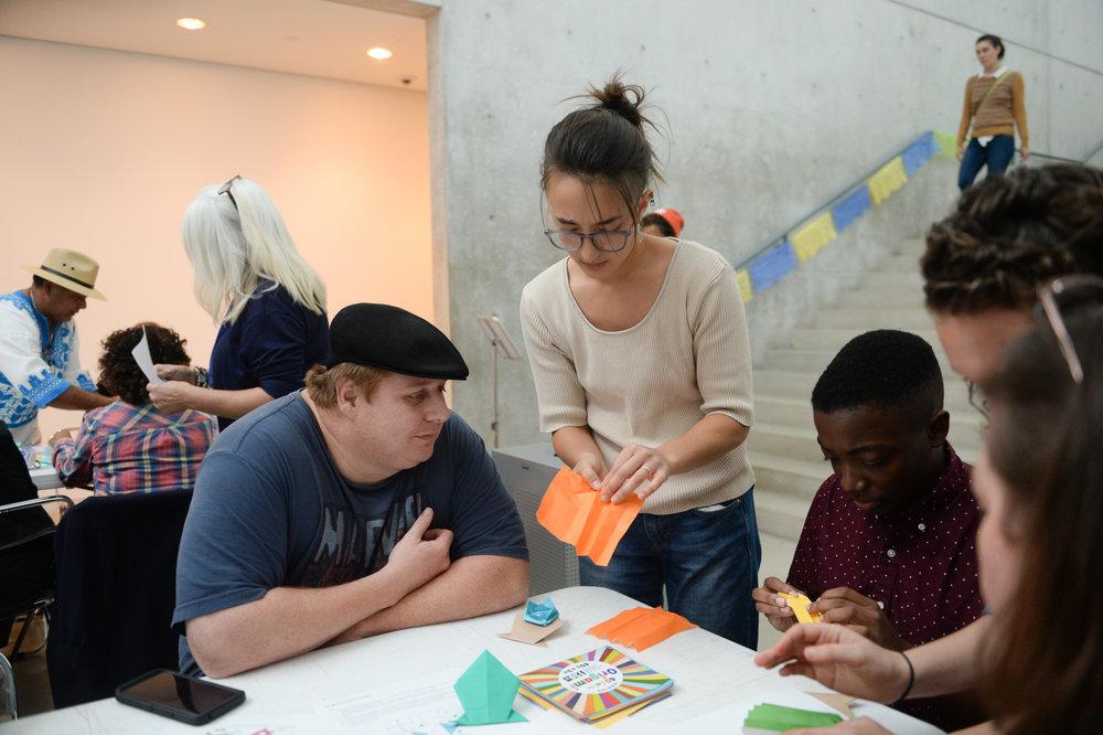 Transforming Paper: Origami + Papel Picado at Pulitzer Arts Foundation, 2018. Photograph by Michael Thomas