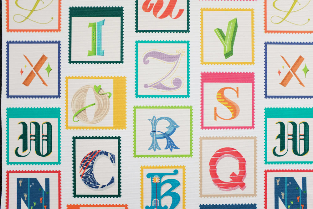 Lettering samples by Esther Nariyoshi (Image courtesy of the artist)