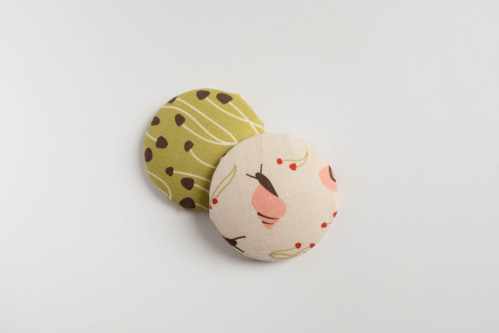Cloud 9 Fabric Pins. Surface pattern design by Esther Nariyoshi (image courtesy of the artist)