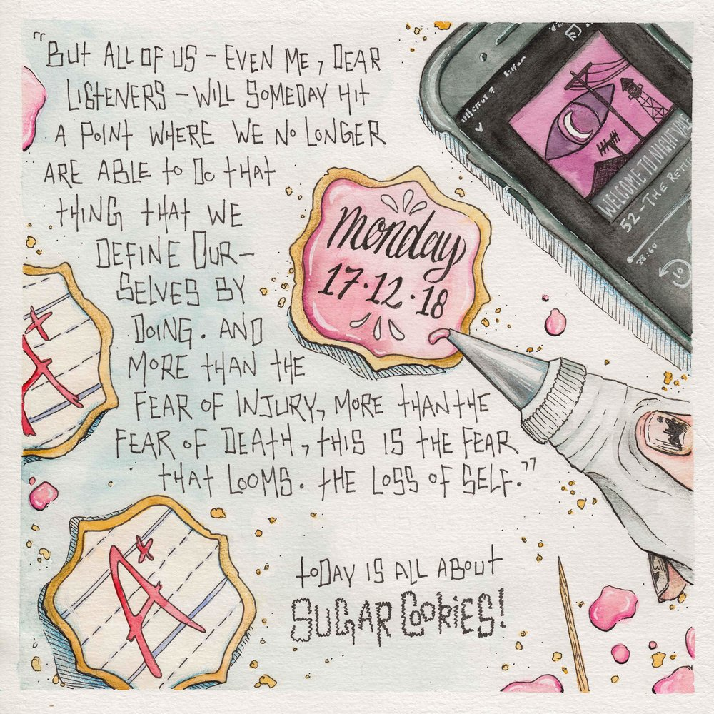Art by Skillshare student Natasha Q., who created this illustrated journal image for Samatha Dion Baker's  Sketchbook Illustration for All: Draw Your Day with Watercolor and Pen