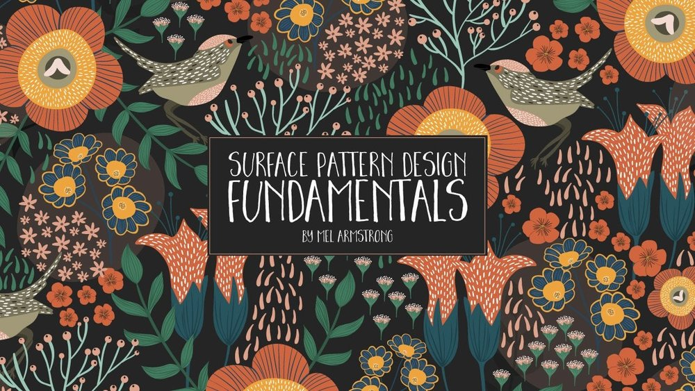 Cover photo for Mel Armstrong's class,  Surface Pattern Design Fundamentals
