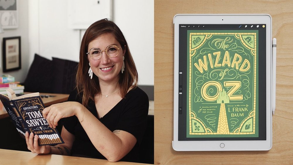 Image still from Jessica Hische's  Illustrated Lettering: Design a Book Cover with Jessica Hische
