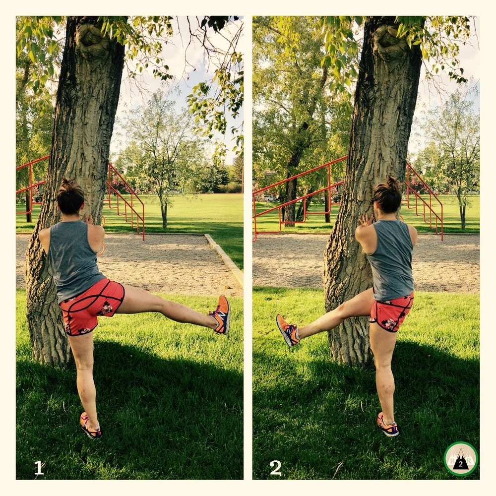 Leg Swings Side to Side. Warming up the Abductors and Adductors. Point your toes in the direction you are swinging your leg.12-15/side