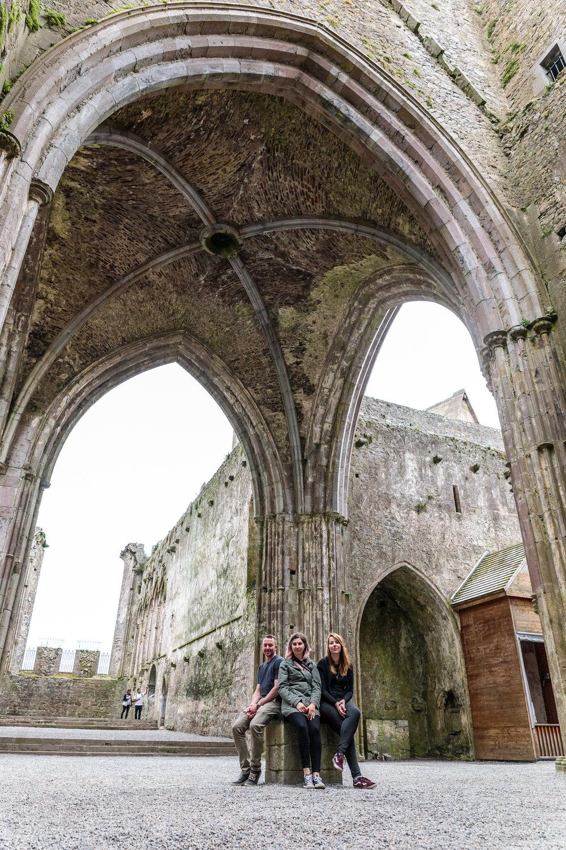 Inside the Rock of Cashel