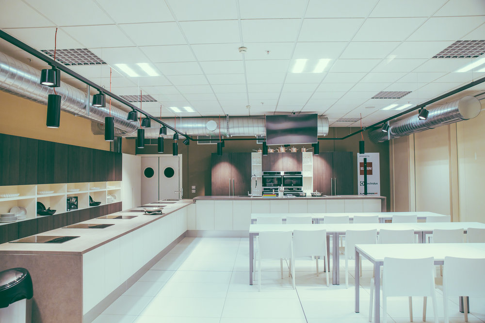 One of the many classrooms at FICO Eataly World