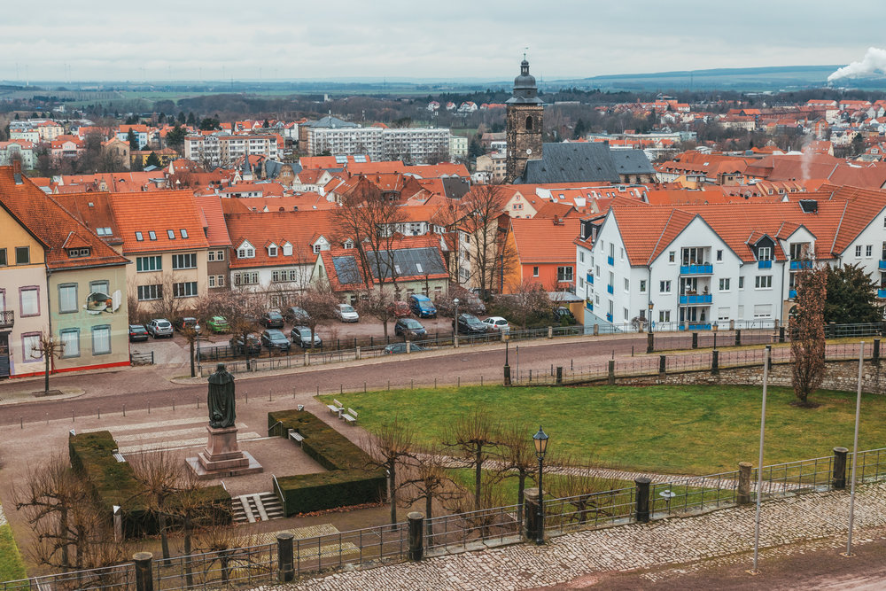 Gotha as viewed from Friedenstein Palace // German Christmas Markets and Beyond: A Trip to Thuringia in December