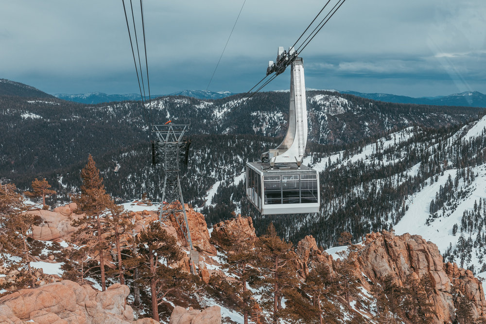 Taking the aerial tram up at Squaw Valley Alpine Meadows // A Quick Guide to North Lake Tahoe & Reno