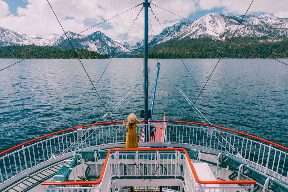 Cruising to Emerald Bay on Lake Tahoe // A Quick Guide to North Lake Tahoe & Reno