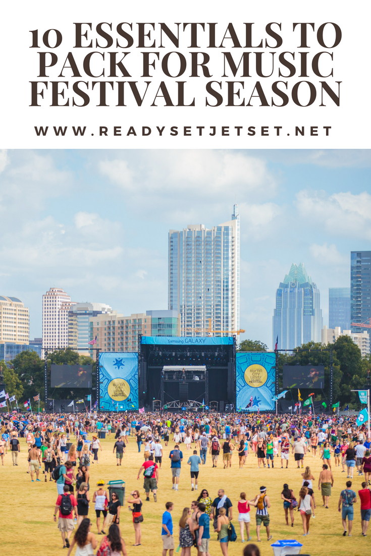 10 Essentials to Pack for Summer Music Festival Season // www.readysetjetset.net #readysetjetset #festivals