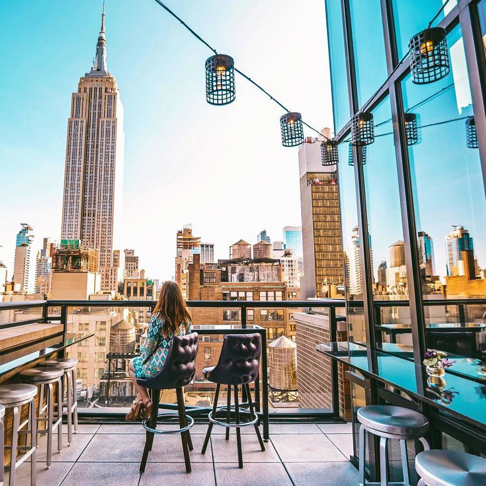 Spyglass at the Archer Hotel in NYC // 15 NYC Rooftop Bars With a Skyline View #readysetjetset