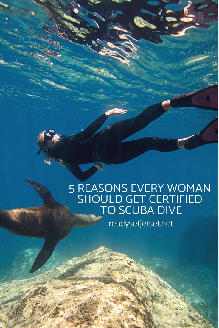5 Reasons Every Woman Should Get Certified to Scuba Dive // www.readysetjetset.com #travel #diving #scubadiving #beaches #ocean #readysetjetset