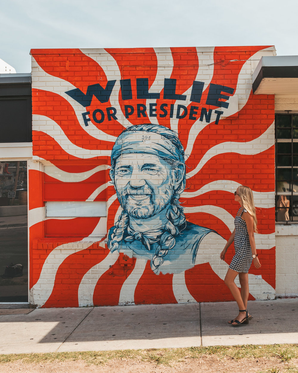 Willie For President Mural on South Congress