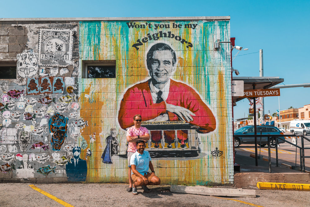 Won't You Be My Neighbor Mural on South Congress