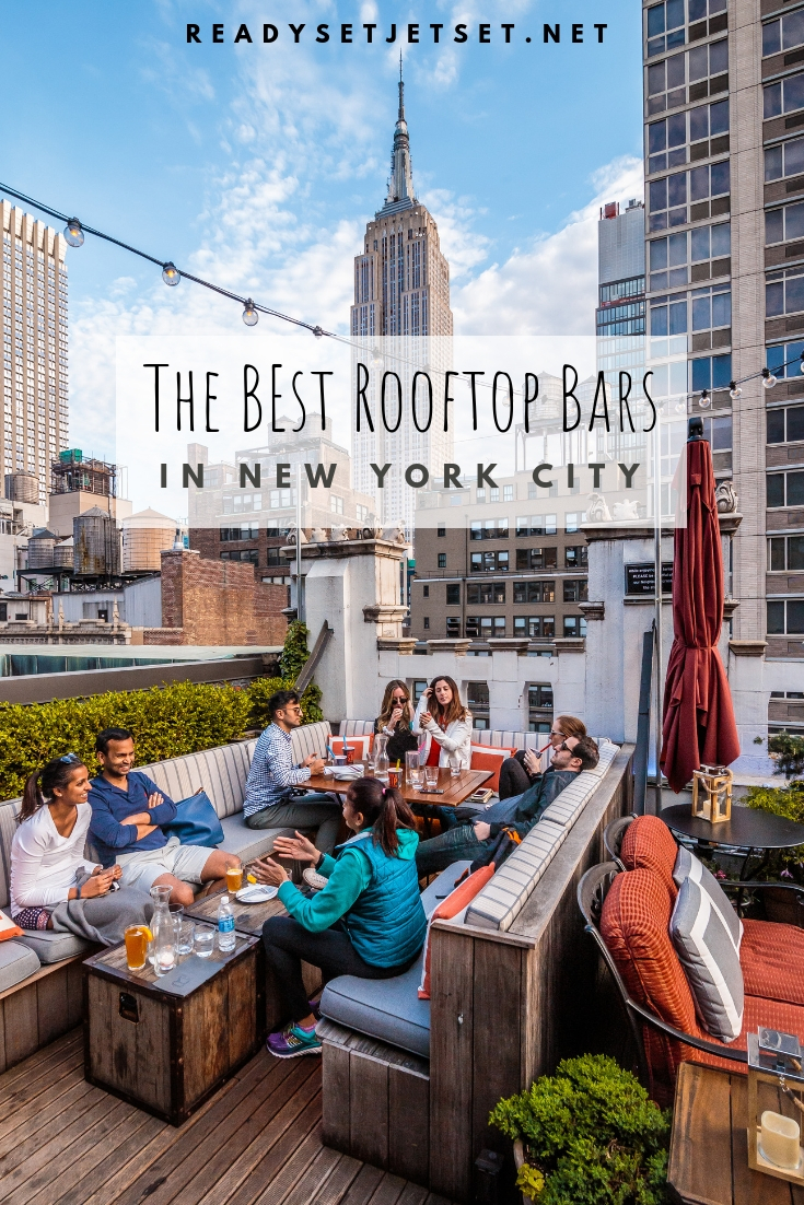 14 NYC Rooftop Bars With a Skyline View // www.readysetjetset.net #readysetjetset #nyc #newyork #rooftopbars #blogpost // NYC has so many good options for rooftop bars, but which ones are the best? Here are my picks for the 14 best rooftop bars with skyline views in New York City.