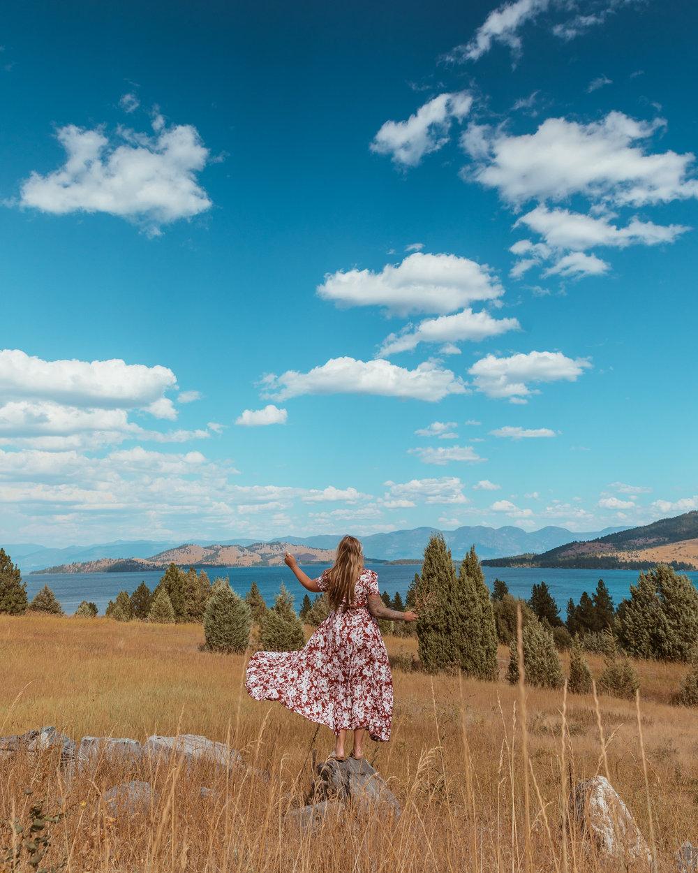 Montana Big Sky Country at Flathead Lake