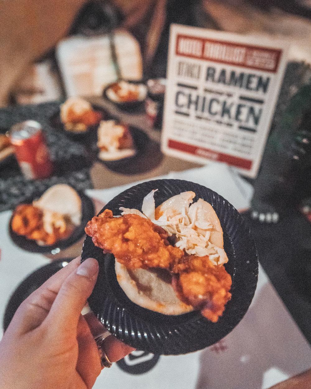 Hot Chicken Buns from Otaku Ramen at Hotel Thrillist // A Weekend at Hotel Thrillist #readysetjetset
