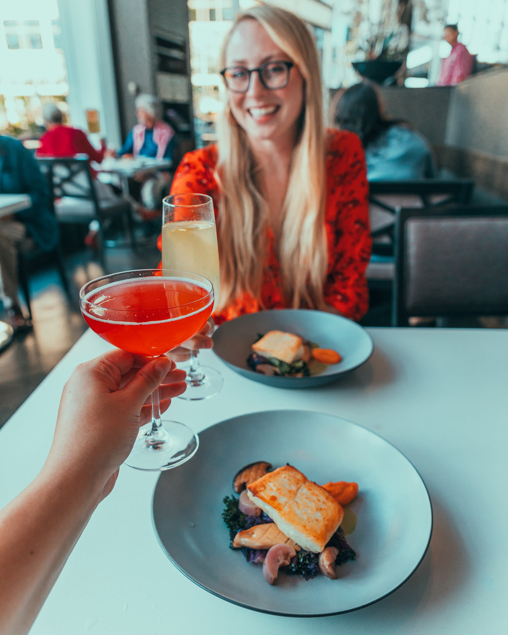 ARC Restaurant cocktails at the Fairmont Waterfront // The Quick Guide to Visiting Vancouver, BC #readysetjetset
