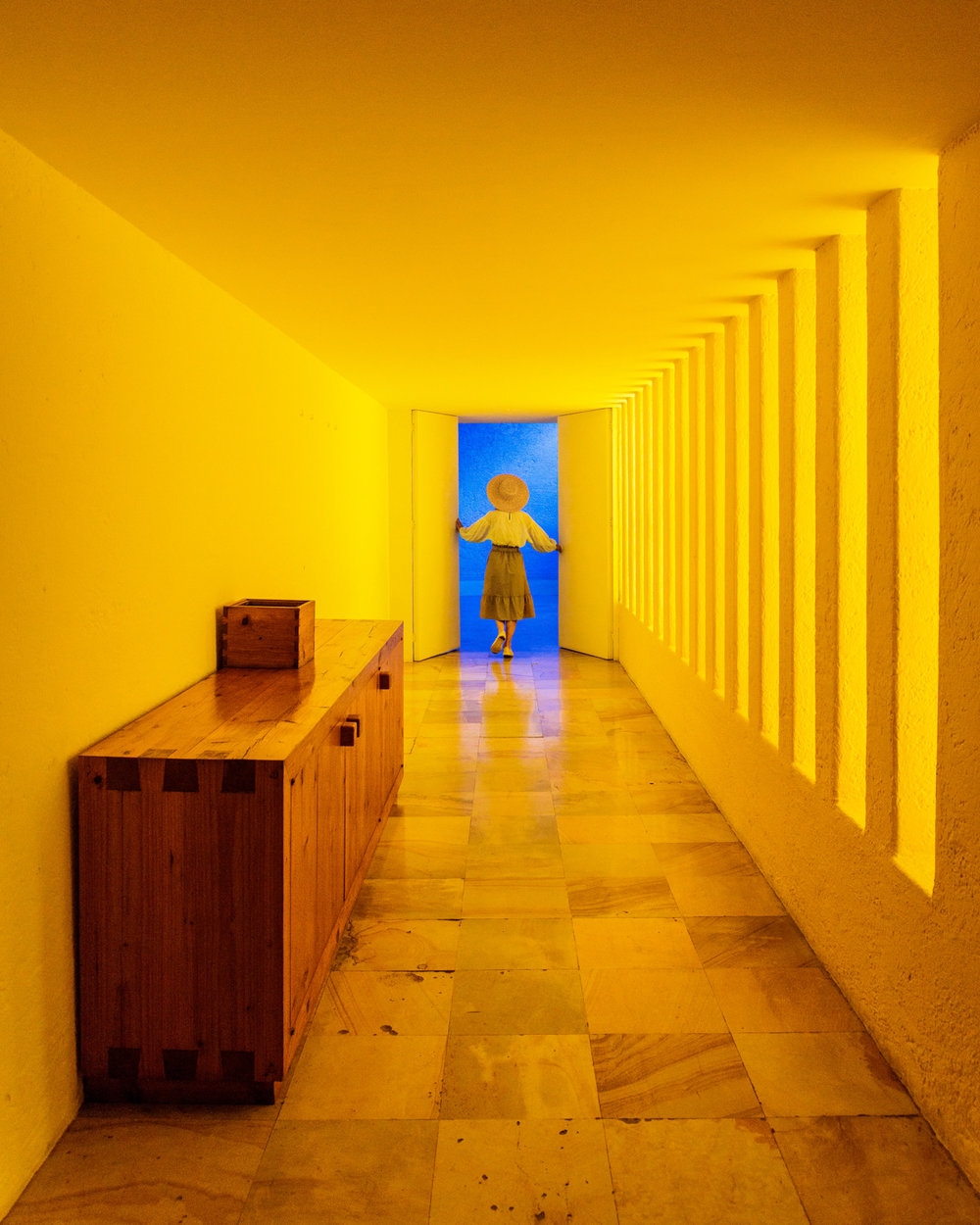 The yellow hallway at Casa Gilardi // The Most Instagrammable Spots in Mexico City #readysetjetset