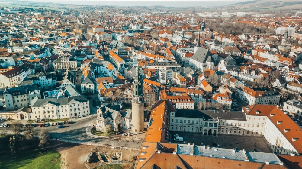 The city of Weimar, Germany