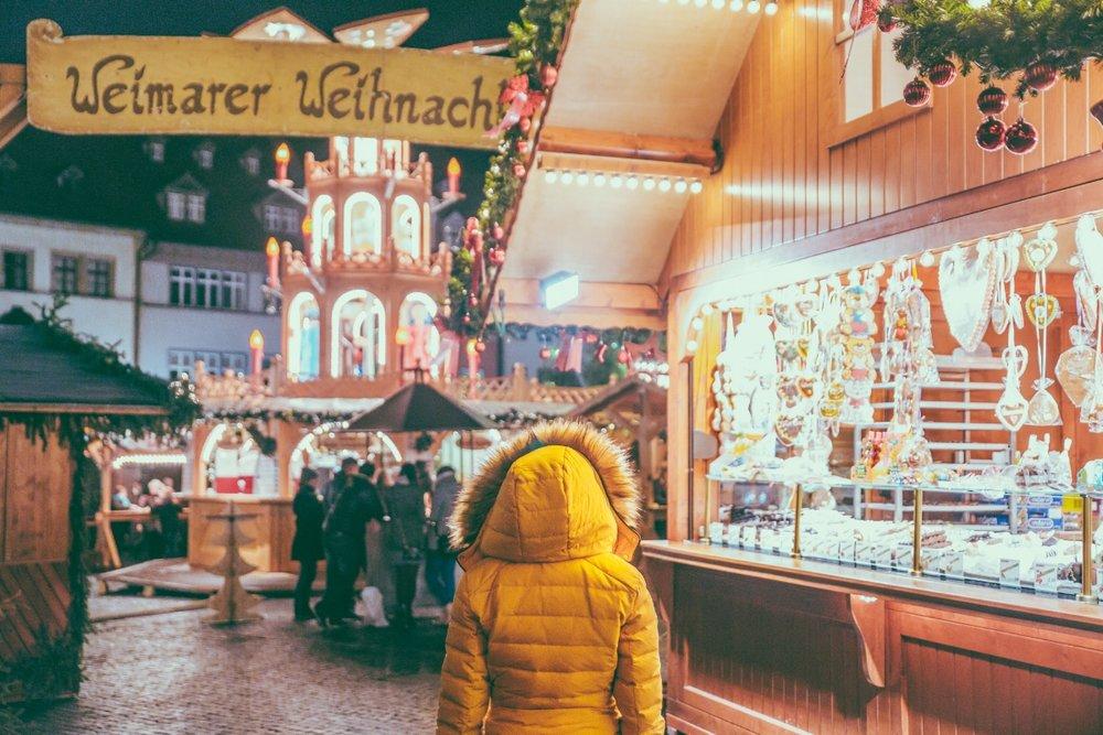 Wandering around Weimar's Christmas Market