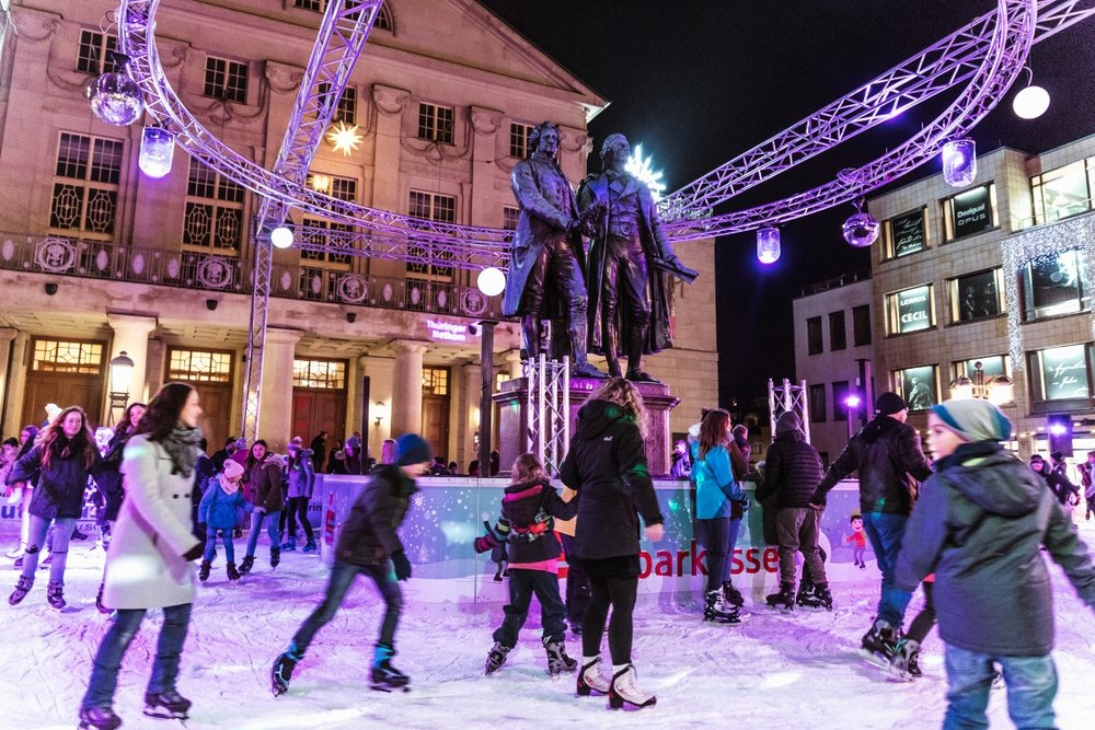 Ice skating at the Weimar Christmas Market // German Christmas Markets and Beyond: A Trip to Thuringia in December