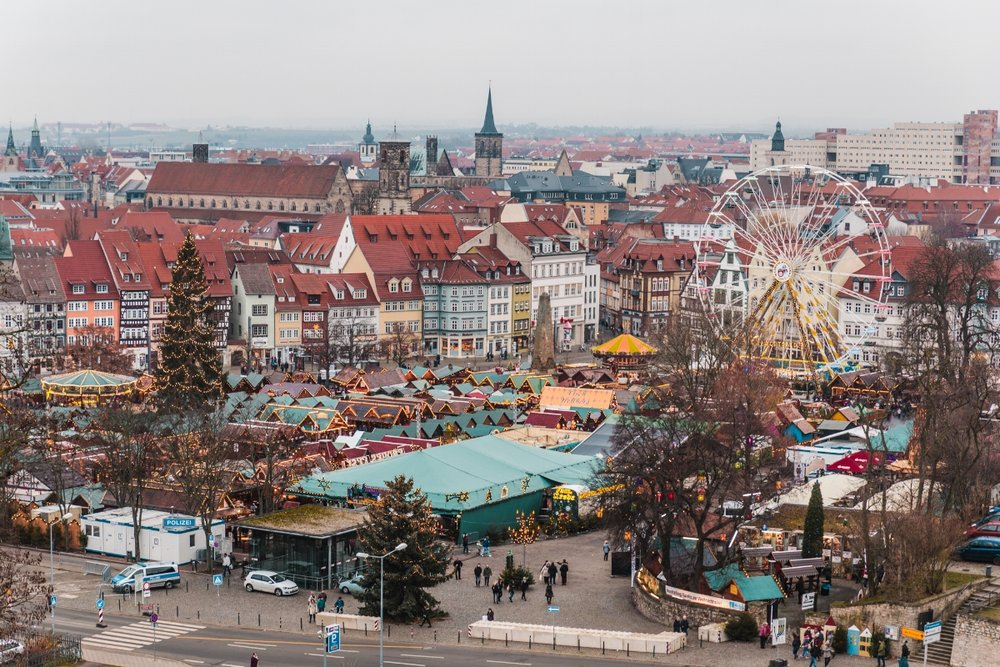 The view from Citadel Petersberg in Erfurt  // German Christmas Markets and Beyond: A Trip to Thuringia in December