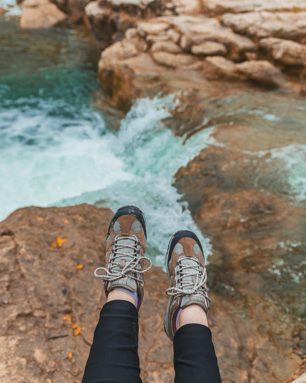 HI-TEC Hiking Boots at Barton Creek Greenbelt // 5 Austin Hiking Trails to Try This Fall #readysetjetset #outdoors #hiking #blogtips #texas #atx