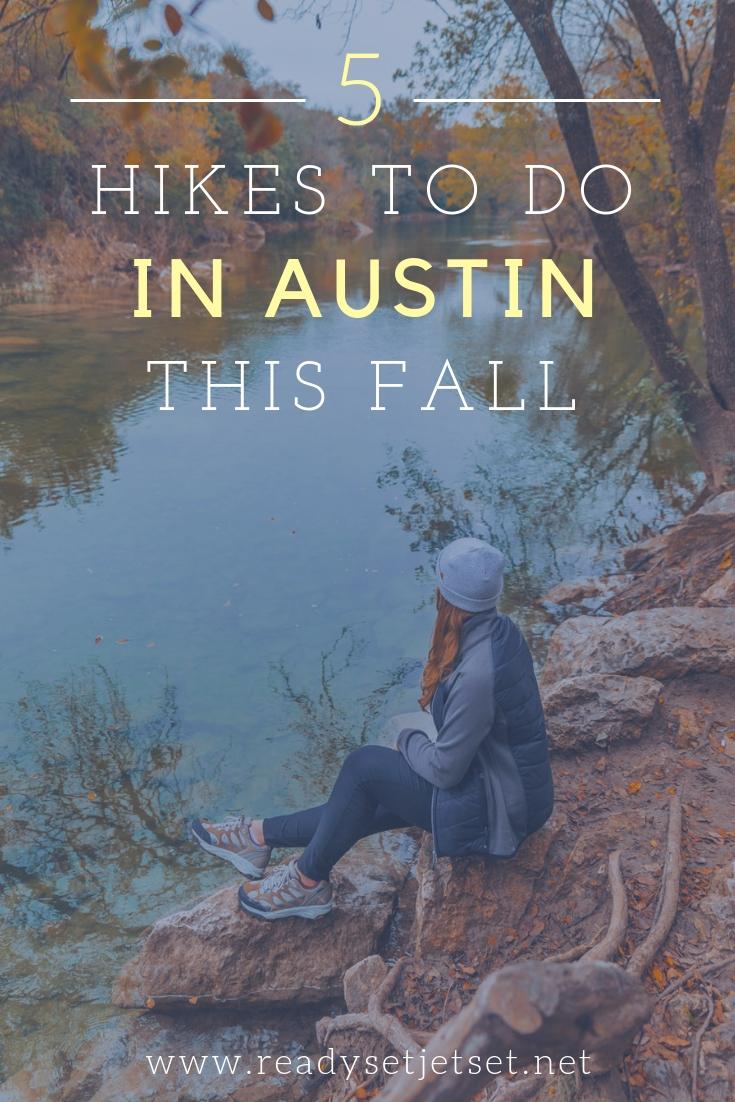 5 Austin Hiking Trails to Try This Fall // www.readysetjetset.net #outdoors #hiking #atx #texas #hikinggear #blogtips #readysetjetset